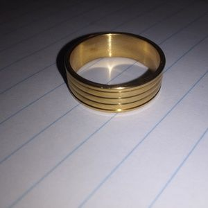 Gold tone Stainless steel band, size 13